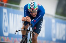 Roche and Mullen feature as Ganna claims Italy's first world time trial crown on home soil