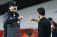 Jurgen Klopp confident against Arsenal despite Mikel Arteta's impact