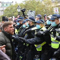 16 arrested after clashing with police at anti-lockdown protest in central London