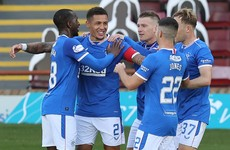 Tavernier nets twice from the spot as Rangers hammer Motherwell