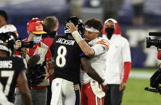 Mahomes wins quaterback battle against Jackson as Kansas City breeze past Baltimore