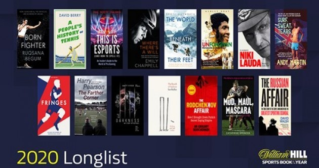Here are the 15 sports books longlisted for the William Hill prize