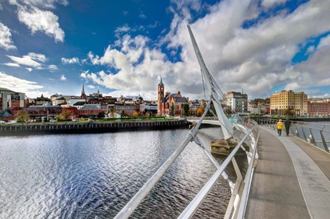 File image of the Peace Bridge in Derry.