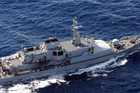 The LÉ Niamh ship, where the fire broke out.