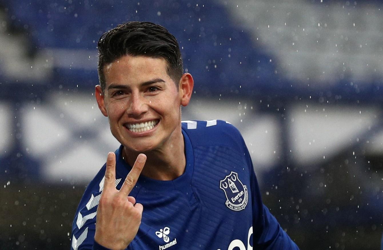 James Rodriguez Inspired Everton Reclaim Premier League Top Spot The42