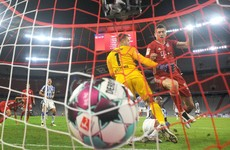 Four for Lewandowski as Bayern survive thrilling Hertha fightback