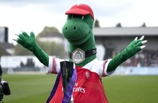 Beloved Arsenal mascot Gunnersaurus to continue role, as Ozil offers to pay full wages