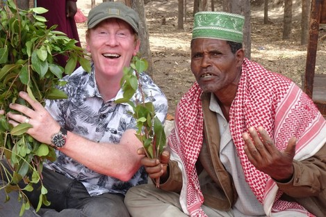 Hector samples some khat in Ethiopia.