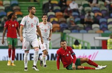 Ronaldo denied against Spain, Finland warm up for Ireland game with 5-1 defeat