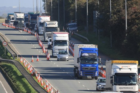 Chaos on the south bound N7 from Rathcoole to Castlewarden yesterday.