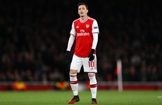 Ozil set to be left out of Arsenal's Europa League squad amid doubts about future at club