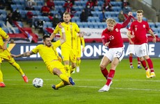Haaland bags his first hat-trick for Norway