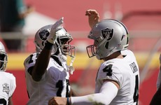 Raiders hand Chiefs surprise first loss while Steelers make it 4-0