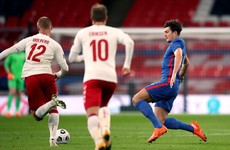 Harry Maguire sent off in England's first defeat in a year