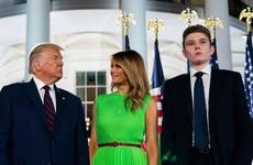 President Trump's son Barron tested positive for Covid-19