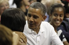 VIDEO: Barack and Michelle Obama caught on stadium 'Kiss Cam'