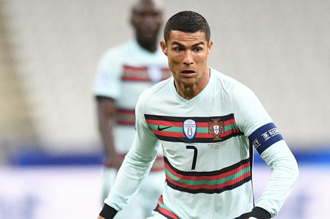 Cristiano Ronaldo pictured during Portugal's game against France on Sunday.