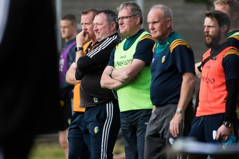 Terry Hyland and the Leitrim backroom team.