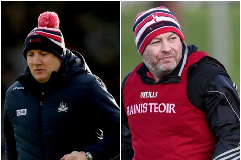 Cork's Ronan McCarthy and Louth's Wayne Kierans were in opposition yesterday (file photo).