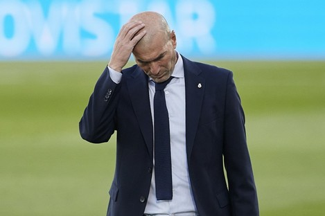 Zinedine Zidane's reaction at the full-time whistle sums up Madrid's mood.