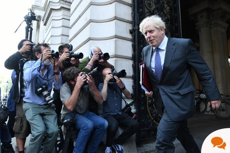 Prime Minister Boris Johnson the Foreign and Commonwealth Office, following a Cabinet meeting in September.