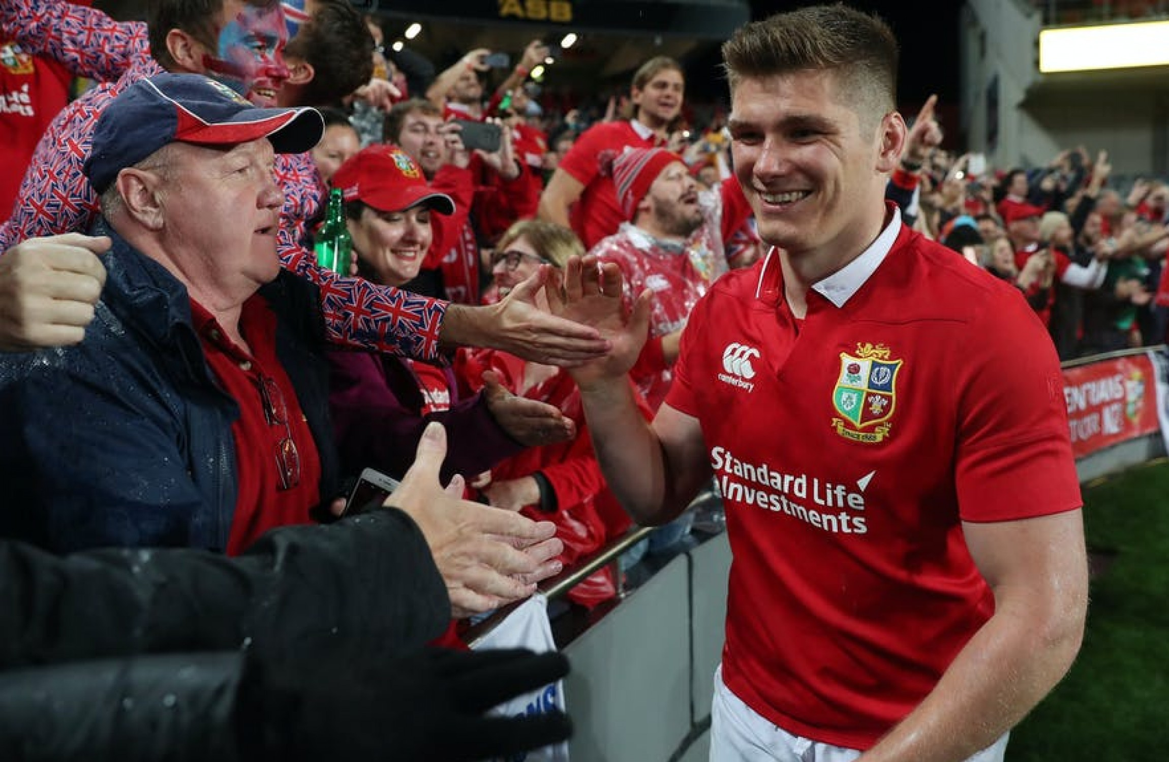 Kicking on Owen Farrell in Lions red