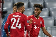 Bayern winger on the double to help holders crush Atletico while Lukaku brace rescues Inter draw