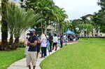 People queuing to cast their early ballots in Florida last week.