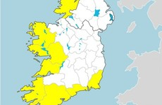 Status Yellow warnings for 8 counties with very wet and windy conditions forecast tonight