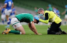 Garry Ringrose suffers broken jaw against Italy in blow for Ireland