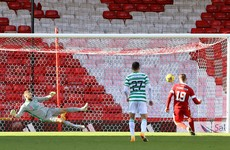 Celtic stumble again as Aberdeen snatch point with stoppage-time penalty