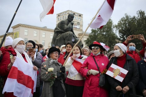Protests continue in Belarus.