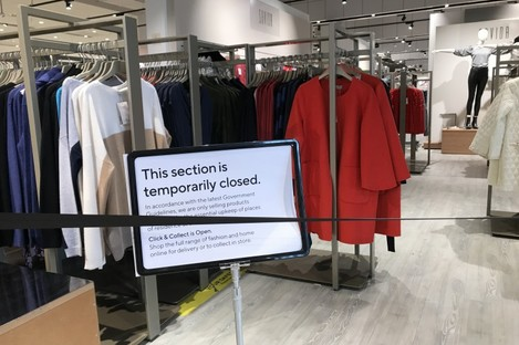 The restricted non-essential products section in Dunness Stores in Newsbridge, Co Kildare