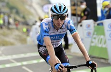 Dan Martin finishes third once again to stay in the hunt at Vuelta as Roglic wins stage eight