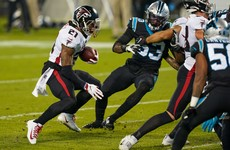 Atlanta Falcons hold on for come-from-behind win over rivals on the road