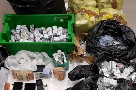 An image of the items seized