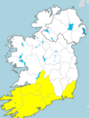 'Persistent' rain and gusts of up to 90km/h as Status Yellow warnings in place today