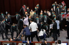 Seven arrested over scuffles in Hong Kong legislature earlier this year
