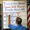 Two small towns cast their ballots just after midnight as US election day begins