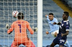 Jesus scores on injury return as Man City cruise into Champions League last-16