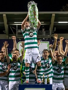 Night of celebration for Shamrock Rovers as League of Ireland trophy returns to Tallaght Stadium