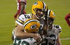 Aaron Rodgers on fire as Packers pummel depleted 49ers