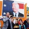 People in Joe Biden's ancestral home of Ballina celebrate his victory in the US election