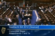 Video: Opposition parties walkout of Dáil over Gaeltacht Bill