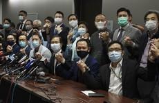 Hong Kong's pro-democracy legislators resign en masse
