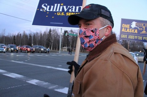File image of Republican Dan Sullivan from Alaska who was re-elected to the US Senate today.