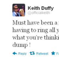 Tweet Sweeper: Keith Duffy is sitting on the toilet
