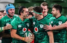 Lowe and Roux tries help Ireland to winning start in the Autumn Nations Cup