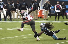 Jones runs in 98-yard touchdown as Brady's Bucs bounce back against Panthers