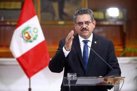 Peru's interim president Manuel Merino announces his resignation